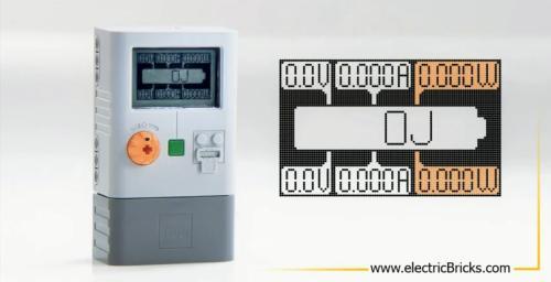 Detalle del display del medidor de energía