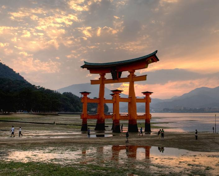 Miyajima Torii con marea baja