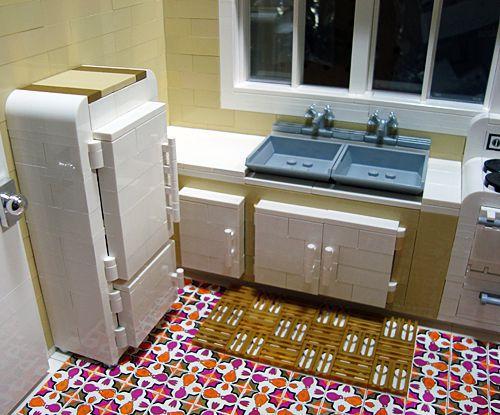 Katrina Cottage en LEGO - cocina