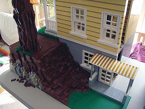 Katrina Cottage en LEGO - trasera