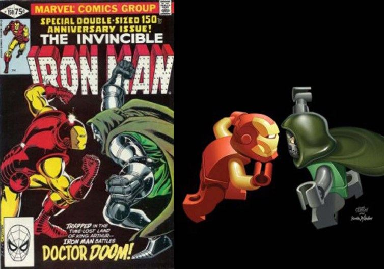 lego iron man y doctor doom