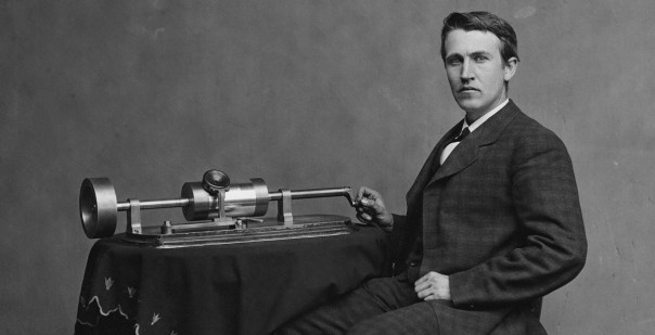 Image result for Thomas Edison invented the phonograph & made the first sound recording
