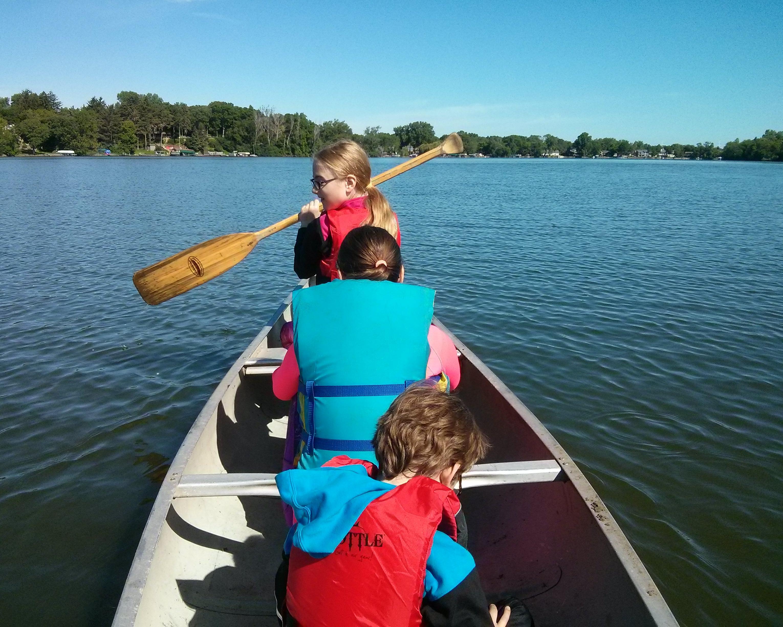 13) We Went Canoeing as a Family #NewThingEveryDay
