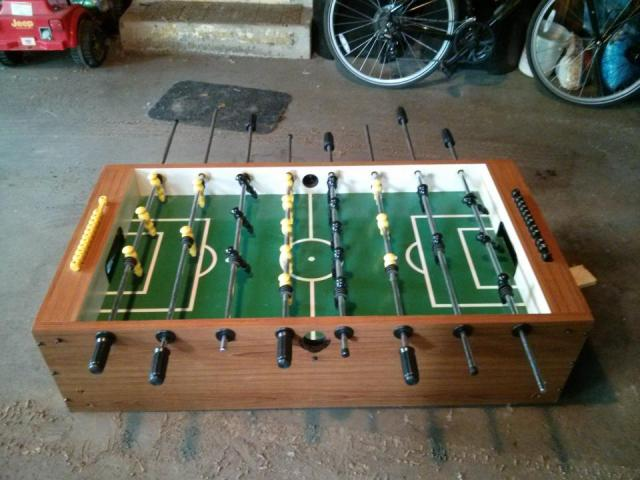 Foosball Table straight out of the Truck