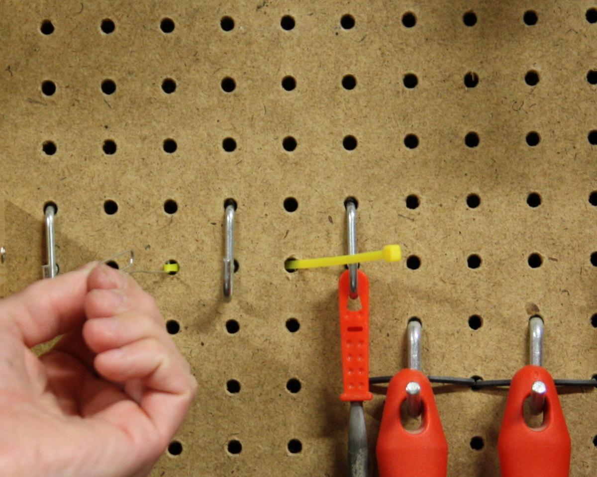 54) Using Zip Ties to Secure Pegboard Hangers #NewThingEveryDay