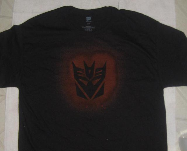 Finished Bleached Decepticon Shirt