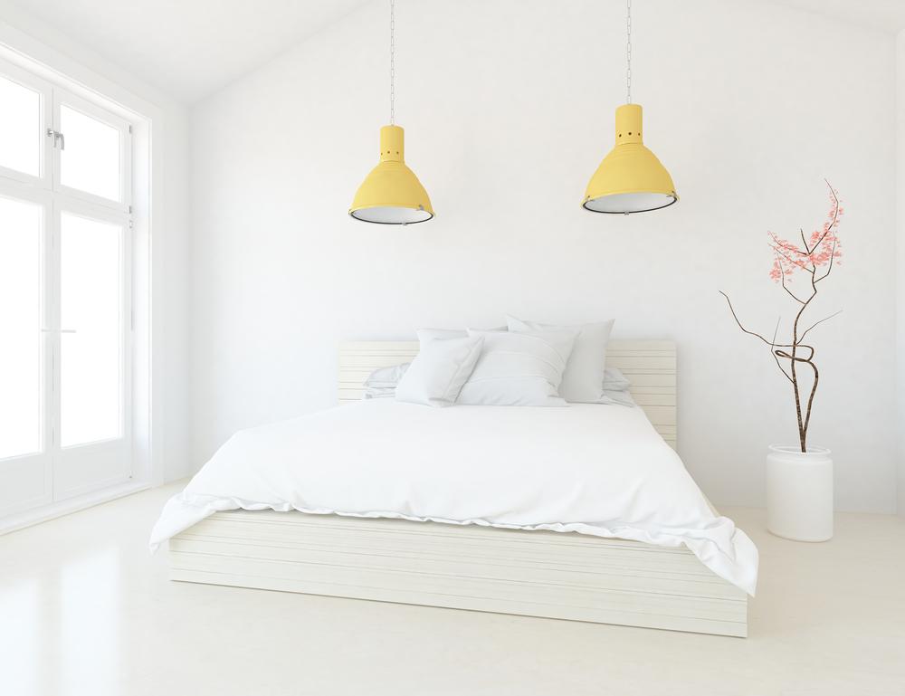 amenajarea unui dormitor alb