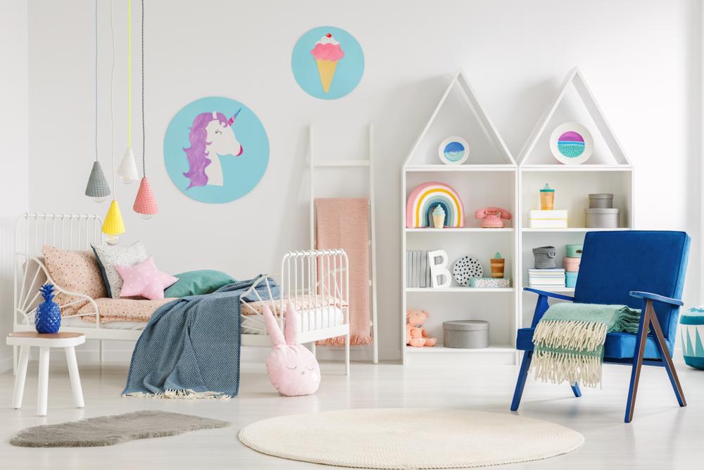 cromatica dormitorului pentru copii