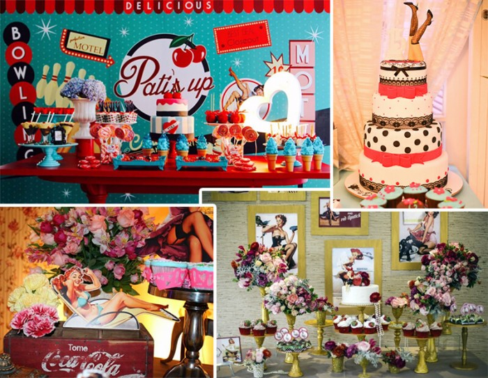 Festa 30 anos com tema Pin-up