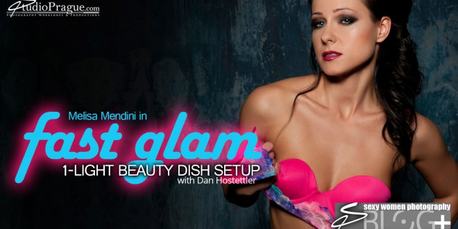 FAST GLAM – 1 Light Setup mit einer Beauty Dish