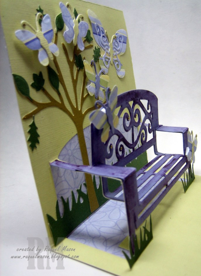 KB ECD Butterfly Garden Bench side