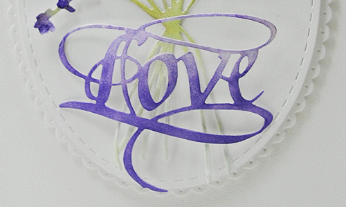 Love in the Lavender - detail
