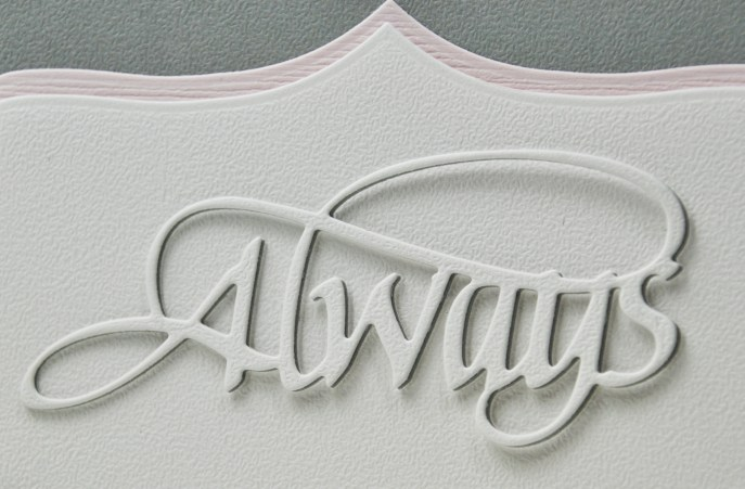 Always Wedding Card by Suzanne Cannon (detail)