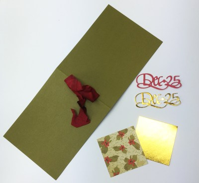 Dec.25 Gift Card supplies by Suzanne Cannon