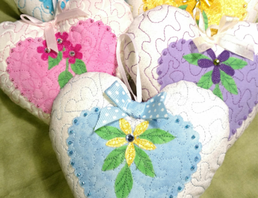 Sewing with Die Cuts - Heart Ornament Sachets