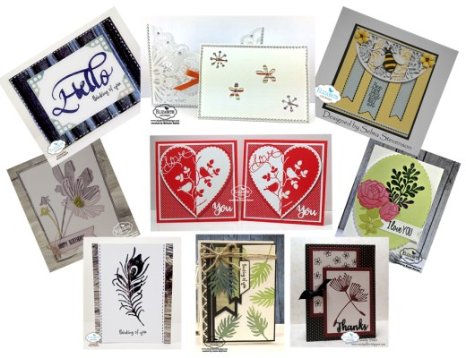 Negative Die Cut Cards May Die Cut Designer Challenge