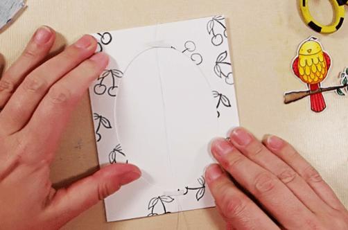 Bird on a Wire Card - Step 6