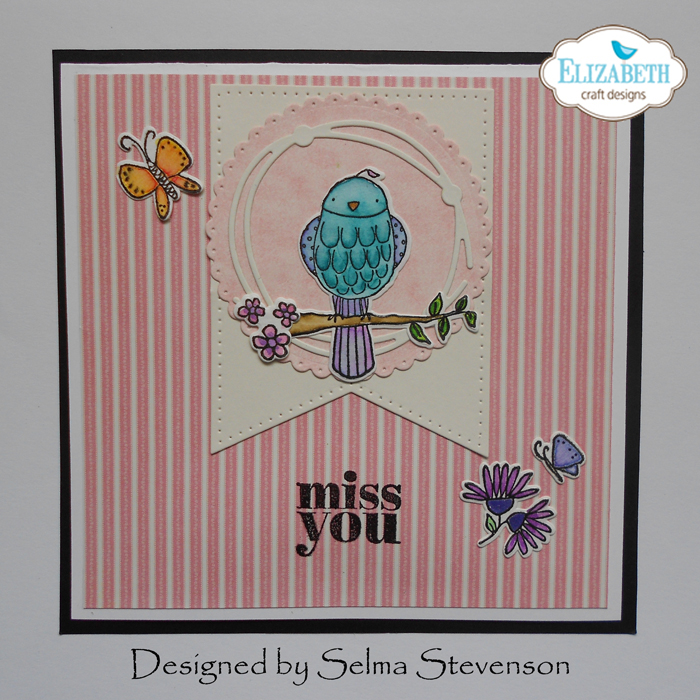 Miss You card by Selma Stevenson