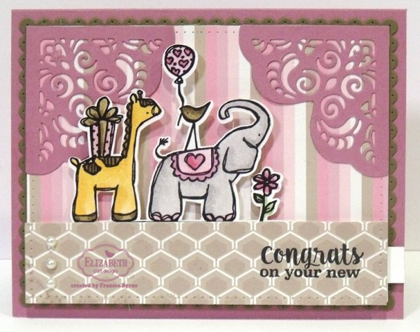 Zoo Babies Slider card by Frances Byrne