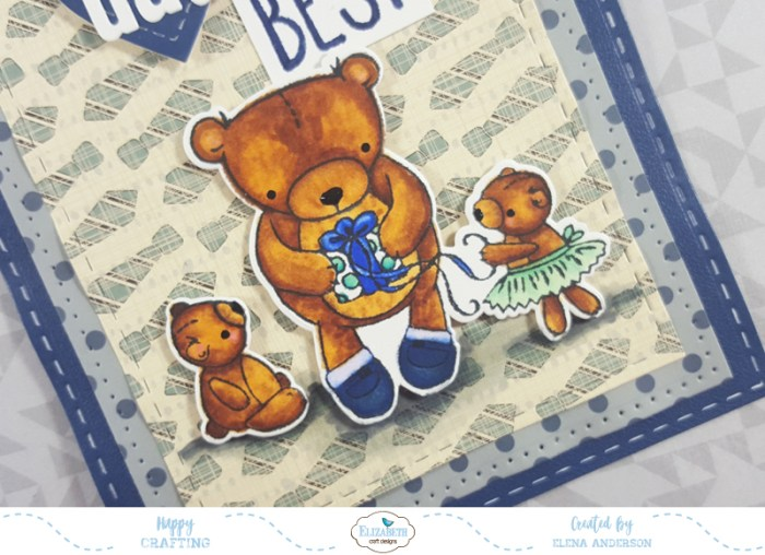 Teddy Bear Father's Day Card - Detail