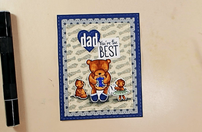 Teddy Bear Father's Day Card - Step 3