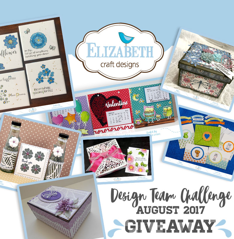 Elizabeth Craft Designs Designer Challenge August Elizabeth