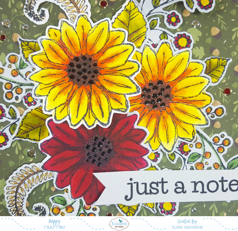 Fall Blossom Time Card - Detail