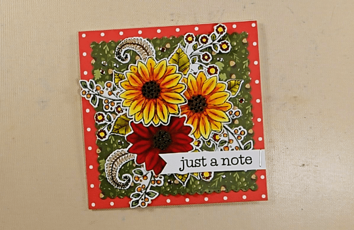 Fall Blossom Time Card - Step 3