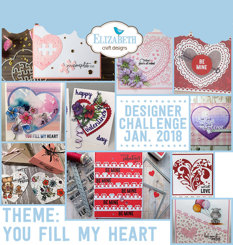 Elizabeth Craft Designs Designer Challenge January 2018