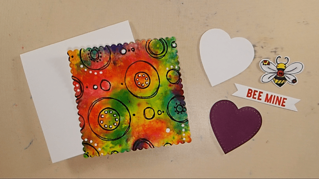 Colorful Watercolor Crystal Valentine - Step 4