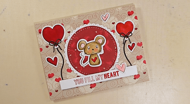 Manly-ish Mouse Valentine - Step 4