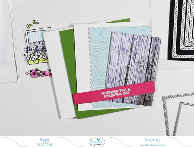 Colorful Window Box Card - Step 3