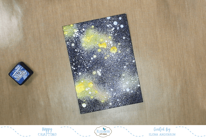 Galaxy Background Father's Day Card - Step 2
