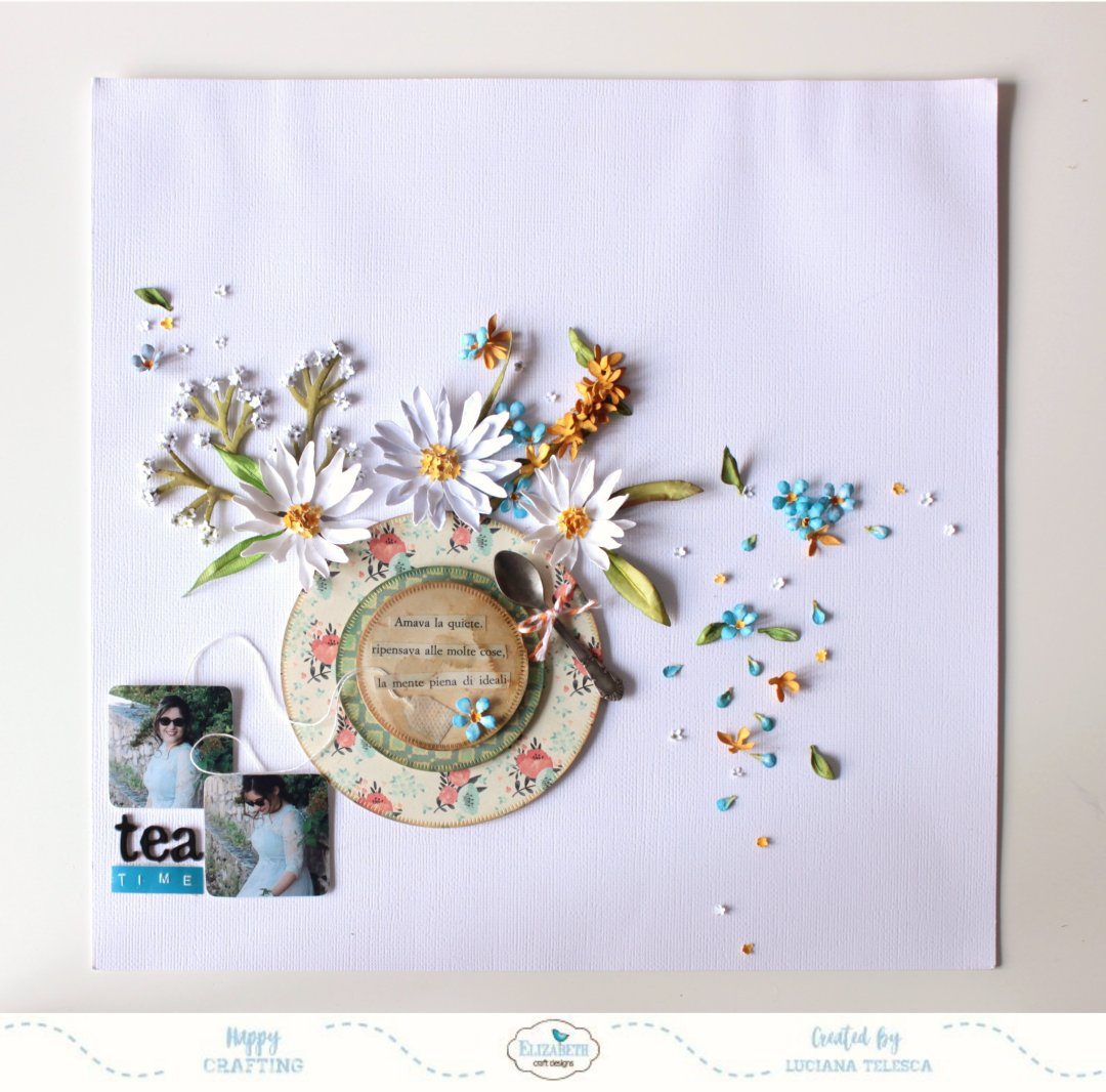 Tea Time Layout Elizabeth Craft Designs
