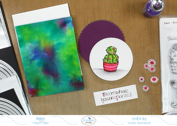 Watercolor Cactus Card - Step 4