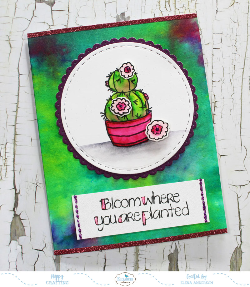 Watercolor Cactus Card