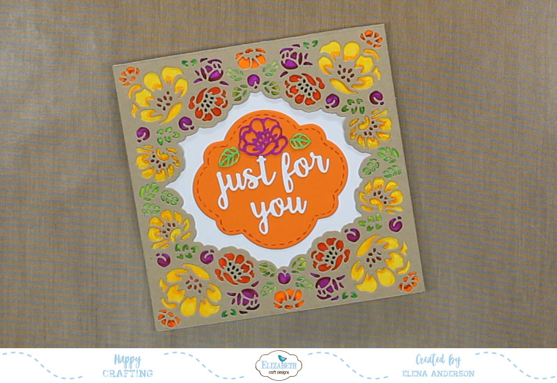 Fall Flower Lace Frame Card - Step 3