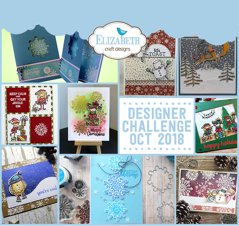 Elizabeth Craft Designs Designer Challenge October 2018