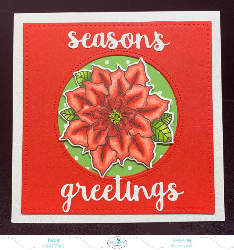 Pretty Poinsettia Christmas Card