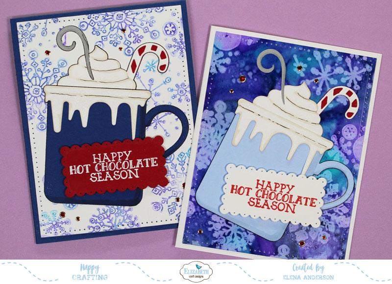 Whimsical Happy Hot Chocolate Season Cards
