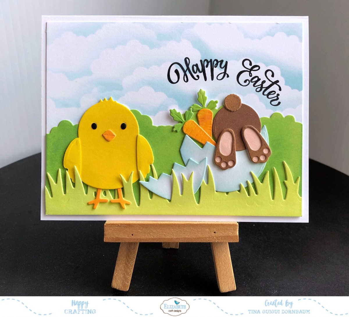 How To Make This Little Chick and Bunny Easter Card