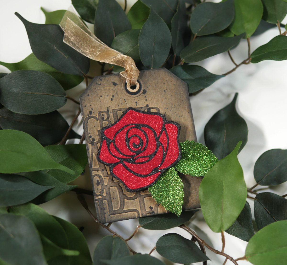 Technique Friday –– Sparkly Rose Tag
