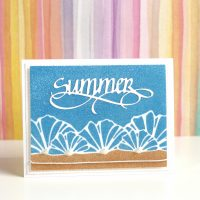 Technique Friday | Sparkly Summer Beach Card –– AND 15% Off Glitter!