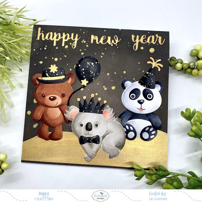 EK Gorman, Elizabeth Craft Designs, Happy new year a