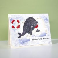 Technique Friday | Sparkling Whale Card