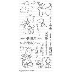 My Favorite Things Clear Stamps, Magical Dragons by Birdie Brown -