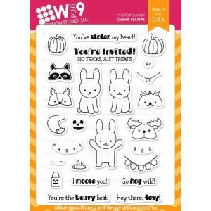 WPlus9 Design Studio Clear Stamps, Bunny Mask-erade -