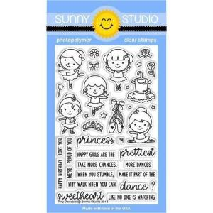 Sunny Studio Stamps Clear Stamps, Tiny Dancers - 0649964636056