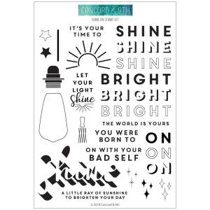 Concord & 9th Clear Stamps, Shine On - 902223990444