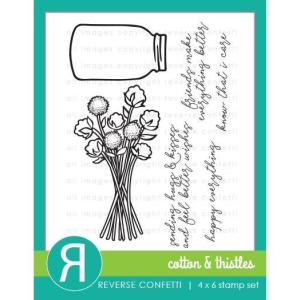 Cotton & Thistles, Reverse Confetti Clear Stamps -